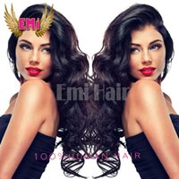 Wholesale S Wigs - Brazilian 130 density natural wave human hair wigs free shipping glueless full lace glueless full lace human hair wigs for black women hot s