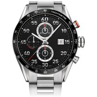 relógios automáticos para venda venda por atacado-Atacado-Hot nova marca de vendas de luxo fashioncalibre 1887 relógio automático de aço inoxidável caso relógios preto dial Mens relógio de pulso