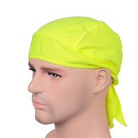 Outdoor Quick Dry Pure Ciclomotore Cap Head Foulard Foulard Fascia Estate Uomo Running Riding Bandana Pirate Hat Hood