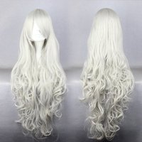 Wholesale Cosplay Lolita Wigs White - Cosplay Rosiel Aniem Long Silvery White Curly Lolita Women's Party Synthetic WIg