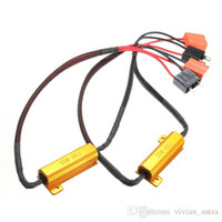 ingrosso h11 led resistenza-Vendita calda 2X H7 50W 6Ohm LED Car DRL Turn Singal Resistenza di carico Canbus Error Free Cablaggio Canceller Decoder