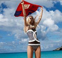 Wholesale Girls Swim Red - 2016 new brand designer women swimwear plus size maios one pieces S M L XL girl swim suit spandex for beach swimming wear 1326