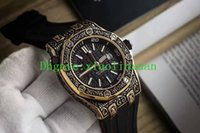Wholesale Machinery Import - New Products Factory Outlet Luxury Brand AAA Quality Royal Men's Watch Imported Fully Automatic Machinery 43mm Rubber Men's Carved Watch