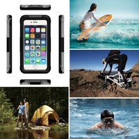 Wholesale iphone 5s snow white resale online - For iPhone S S SE Waterproof Phone Cover Cases Shockproof in Hybrid Water Snow Proof for iPhone S S SE protective case