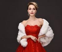 ingrosso avvolge la sposa-Nero bianco inverno avvolge da sposa caldo morbido Faux Fur Shrug scialle Sposa Prom Party nuziale Bolero donne