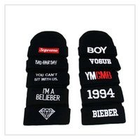 Barato Personalize Chapéu De Inverno Beanies-Customized Candy Color Skullies hats Beijos do bordado do logotipo do inverno chapéus Chapéus quentes do Hot Hot Bonnie quente quente