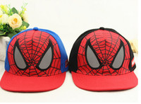 spiderman baseball caps - New Kids Snap back Hat Caps Spiderman Children s Boys Baseball Cap Casual Hiphop Hats Colors
