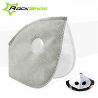 Wholesale Rockbros White - ROCKBROS Filter For Masks MTB Bike Bicycle Cycle Anti-Dust Face Mask Replacement With Active Carbon Filter Good Protector