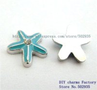 Wholesale Cheap Charms For Living Lockets - FC568 Starfish 100pcs Floating Charms for living Floating charms locket Charms Cheap Charms Cheap Charms