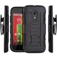 cajas de teléfono moto g3 al por mayor-Future Armor Impact Hybrid Hard Phone funda de la carcasa con clip de cinturón Holster Kickstand de pie para Motorola MOTO G G2 G3 X X2