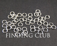 Wholesale Jump Rings For Jewelry - 500 pcs 4mm 5mm 6mm Silver plated Open Jumprings Jump rings - Supplies Jewelry for DIY