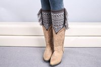 Wholesale Women S Boots Wholesale - Crochet Boot Cuff Polaina Christmas Tassel Knitted Leg Warmers Fashion Rhombus Plaid Women Knitted Leg Warmer buy 80's leg warmers B165
