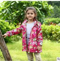 Wholesale Floral Velvet Coat - Kids coats Autumn Winter Girls velvet floral long sleeve ski-wears Children hooded printed thicken warm overcoats Kids Leisure clothes C2333