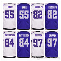 ead819005 Minnesota Mens stitched Jerseys Viking 55 barr 82 rudolph 84 patterson 97  griffen elite jersey football shirts ...