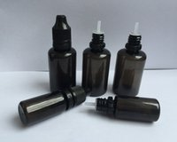 Wholesale E Bottles Dhl - Black PET Empty Bottle 10ml 30ml Plastic Dropper Bottles with Long and Thin Tips Tamper Proof Caps E Liquid Needle Bottle DHL Shipping