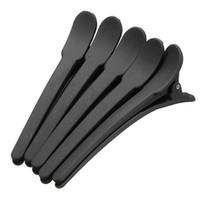 ingrosso utensili tagliati-Wholesale-Pro 10Pcs Nero Matte Hair Styling Clip Salon Capelli tagliati sezionali Morsetti Grip Clips Strumenti per lo styling