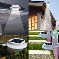 Wholesale Solar Power Wall Mount Lights - Outdoor Solar Powered 3 LED Wall Path Landscape Mount Garden Fence Light Lamp