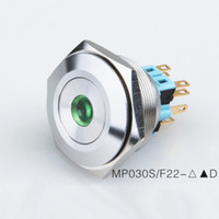 Wholesale Illuminated Momentary Push Button Switch - 30mm Metal Anti vandal Waterproof IP67 12v 24v Led illuminated Push Button Switch momentary   Latching on off Pushbutton ,for Car  Doorbell