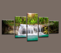 Home Decor Canvas 5 Piece Landscape Painting Wall Art Picture Living Room Canvas Print Modern Painting Large Canvas Art Cheap
