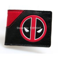 Wholesale Animated Wallets - Deadpool wallet animated cartoon fashion brand purse Young boys and girls purse personality Man purse DFT-1195
