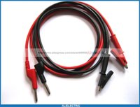 Wholesale industrial plug sockets resale online - 10 Set Banana Plug to Alligator Silicone Cable High Voltage Red Black