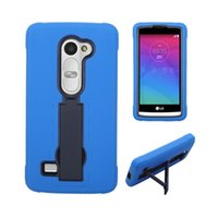 Wholesale Heavy Duty Mobile - Wholesale High Quality Cell Mobile Case Heavy Duty With Holder Stand Anti-knock Silicone+PC For LG Leon C40