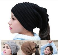 Wholesale Korean Fashion Simple For Men - 2016 Korean New Knitted Hat For Unisex Multi Use Beanie Kerchief Simple And Fashion Mix Colors