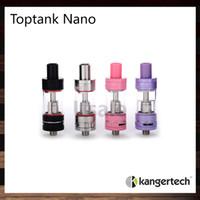 glaszerstäuber großhandel-Kanger Toptank Nano Zerstäuber 3,2 ml Unter Ohm Tank Kangertech SSOCC Pyrexglas Cartomizer 100% Original