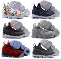Wholesale Basketball Player Shoes - Dazzling Drop Shipping Famous Players LB 15 James XV EP 15S LBJ 15 Mens Sports Basketball Shoes Sneaker Shoes Size 40-46