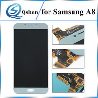 Per Samsung Galaxy A8 A800 Schermo LCD Touch Digitizer di ricambio con display Assembly One by One Check