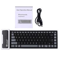 Wholesale Flexible Bluetooth Keyboard For Tablets - Wholesale-85 Keys Bluetooth 3.0 Keyboard Waterproof Foldable USB Flexible Silicone Keyboards For Laptop Notebook Computer Tablet PC Phone