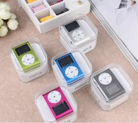 Wholesale Option Choices - Promotion DHL 100pcs mini clip mp3 player with TF card slot MP3+USB+Earphone+Box 3 options to choice