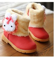 Wholesale Girls Cotton Winter - Top Quality Autumn Winter Children Boots Girls Big Buck Cotton Non-slip Bottom Princess Snow Boots For Baby Girls Children shoes