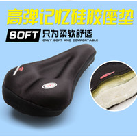 Outdoor Silicone Cycling Bike Bicycle souple épais Gel Saddle Seat Cover Coussin Pad vélo Pièces Sport Plein air