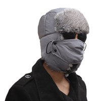 Wholesale Earflap Beanie Women - S5Q Mens Women's Mask Beanie Ski Hat Trooper Earflap Winter Trapper Aviator Warm Unisex AAAEGJ