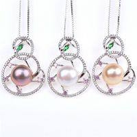 Wholesale Custom Jade Pendants - high-end custom pearl Royal Wangs noble Jade Jewelry Sterling Silver Pendant Every