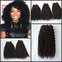 Wholesale Malasian Virgin Hair 14 Inches - Malasian Kinky curly hair weaves double weft full end virgin human hair non processed human afro hair for black woman G-EASY