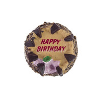 Wholesale miniature brand - Wholesale-New 2015 Brand New 1 12 Dollhouse Miniature Chocolate Birthday Cake Free Shipping