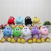 Wholesale Yoshi Plush Dolls - retail super Mario Bros New 7inch yoshi Plush Doll Figure Toy 9 color green black red yellow