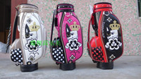 Wholesale Free Golf Equipment - Wholesale-Hot sale New women Golf staff bags SPORTS High quality PU Golf bag with 3 colors 9.5 inches Golf equipment Free shipping