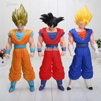 Wholesale Dragon Ball Cap - Wholesale-Dragon Ball Z 3pcs lot 15inch Janpan Anime Action Figure Dragon Ball Z SON GOKU Great Saiyaman Action Figure 3style