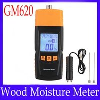 Woodworking Resolution:0.5%  Wood moisture meter GM620 with testing probe adjustable for 4 species