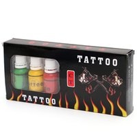 пигментные чернила оптовых-Последний дизайн высокое качество дешевле набор CT 7 цвет татуировки чернила 15 мл / бутылка татуировки пигмент новый