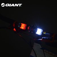 Wholesale Giant Bicycle Lights - GIANT Bike Front Rear Light Flash Warning Light Leds Light Waterproof Ourdoor Sports Cycling Light Bicycle Accessories Red White