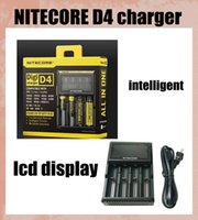 Wholesale Nitecore D4 Digicharger LCD Display Battery Charger Universal Nitecore Charger intelligent in smart charger VS nitecore I4 dhl FJ139