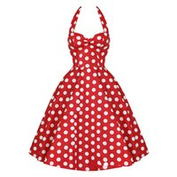 Wholesale Vintage Women Dresses Dots Rockabilly - 2015 MaJolena 2015 Summer Plus Size Retro 50s Swing Pin up Dress Polka Dots Rockabilly Plaid Vintage Dress Short Women Gowns vestidos