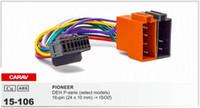arnês para rádio de carro venda por atacado-CARAV15-106 Arnês ISO para carro de alta qualidade para Pioneer DEH série P (alguns modelos Cabo de conector para fiação de adaptador de fio de rádio estéreo