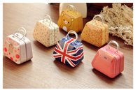 Wholesale High quality Creative handbag bag iron Mini Storage small tin coin box candy box