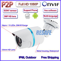 Wholesale Axis Ip - 2MP POE mini cctv outdoor ip camera 1080P ONVIF 2.4 IMX322 Sensor IP66 Security 24LED 3.6mm Lens 3-Axis bracket IR-CUT No.72