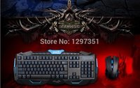Wholesale Usb Accesories - Wholesale-1 Set New 2.4G Special Computer Accesories Gaming Gamer Laser Wireless Keyboard and Mouse USB 3.0 with Black White Luxur Gold